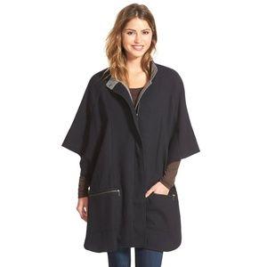 Black Cotton Zip Front Cape, size XS/S